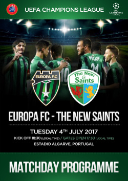 Matchday Program - Europa FC Vs The New Saints