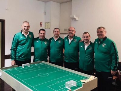 Europa FC-Subbuteo around table