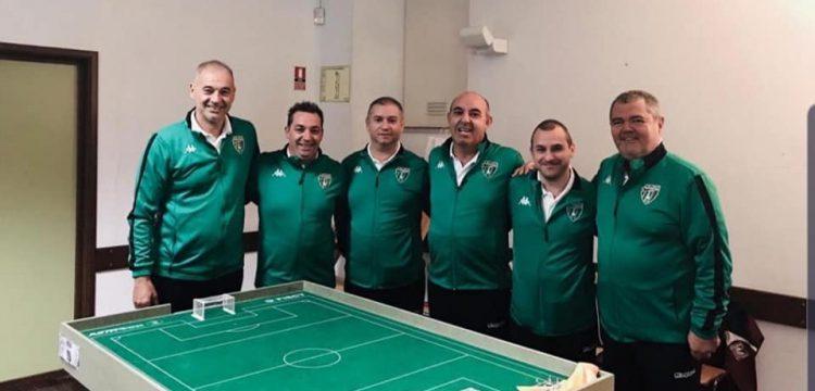 Europa FC-Subbuteo around table