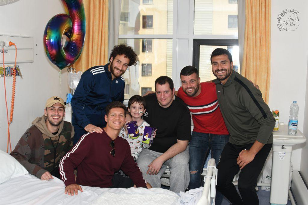 Europa FC-hospital visit