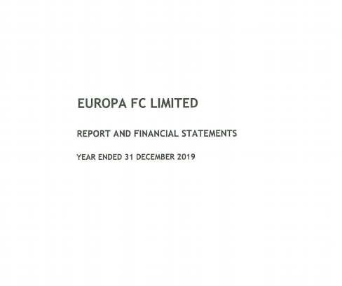 EuropaFC-financial statement 2019